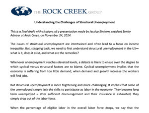 Understanding the Challenges of Structural Unemployment